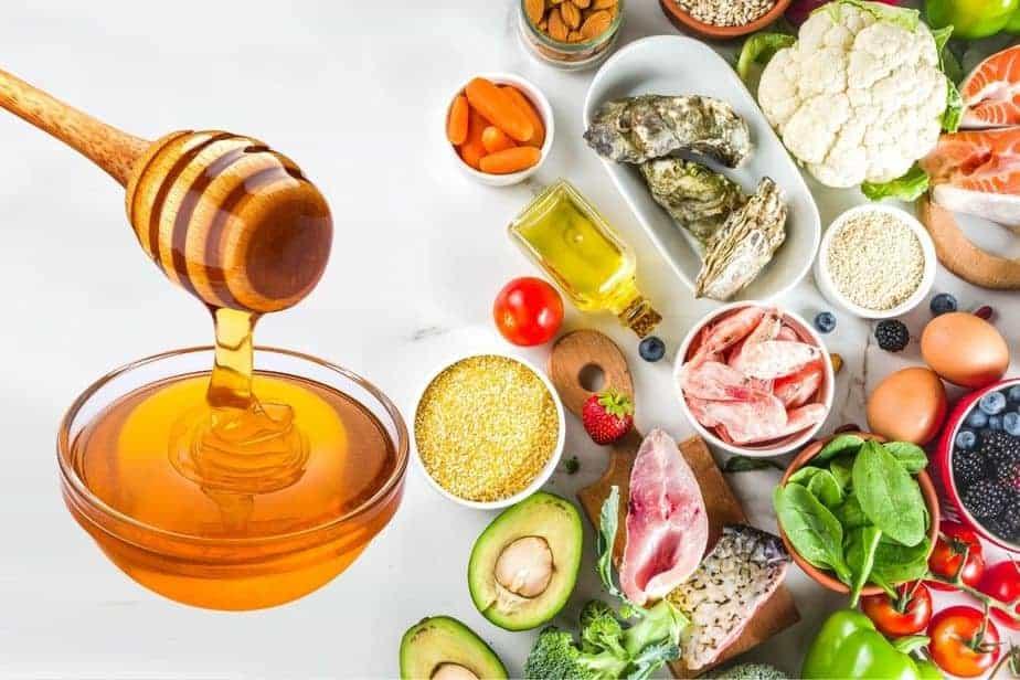 Miel y verduras