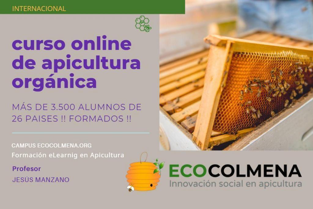 Cartel del curso online de apicultura